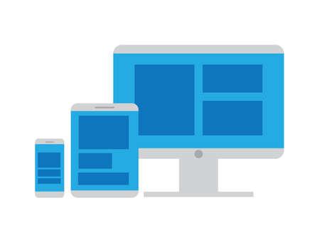 Responsive Web Design Illustration flat design