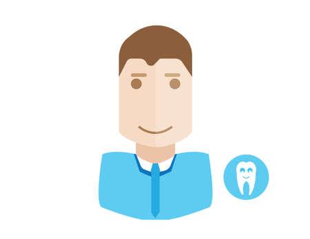 Dentistry concept dentist doctor avatar illustration