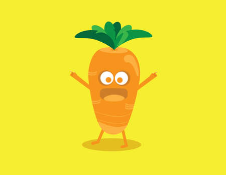 emotions faces: Illustration of a Carrot flat design