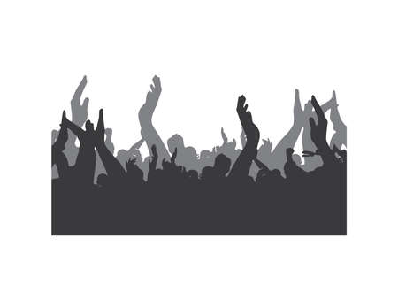 Party People Silhouettes Vector Achtergrond