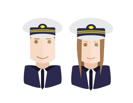 cabin attendant: Set of aviation crew