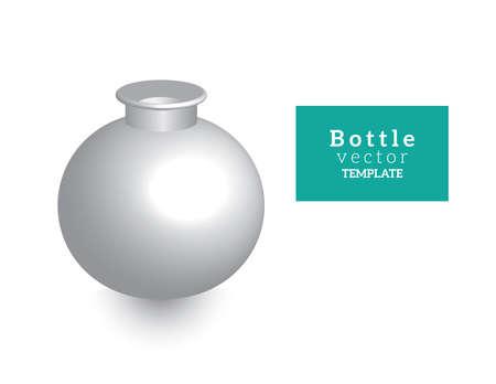 tipple: bottle vector template for design