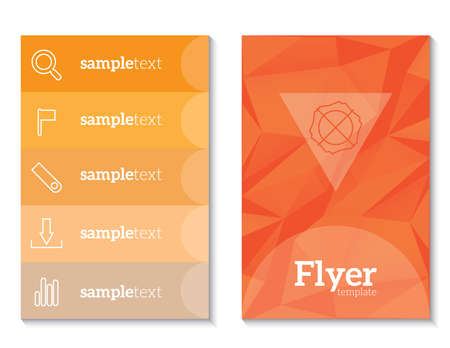 article marketing: Abstract Triangle Brochure Flyer design vector template