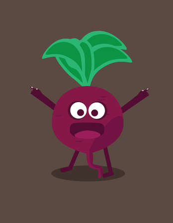 beet root: illustration of a cartoon character beet root Illustration