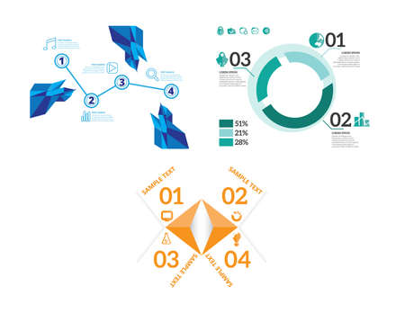 Minimal infographics. Vector Set