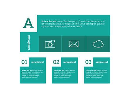phonographic: Minimal infographics. Vector