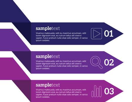 elemento: Infografica illustrazione vettoriale. può essere utilizzato per le opzioni numero Diagramma bandiera disposizione del flusso di lavoro, le opzioni step-up, web design
