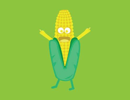 corn cartoon: ma�z ilustraci�n vectorial de dibujos animados Vectores