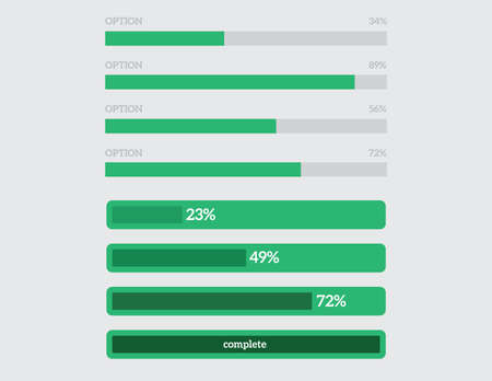 bar graph: preloaders and progress loading bars, a slide set Illustration
