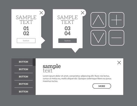 components: UI elements set of components featuring the flat design trend EPS10