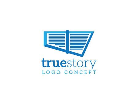 true: Abstract vector logo company template true story