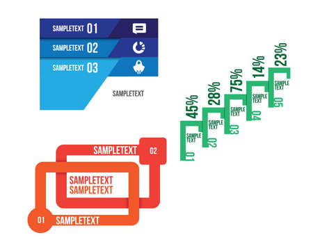 with sets of elements: Infographic set Vector illustration. can be used for workflow layout banner diagram number options, step-up options, web design
