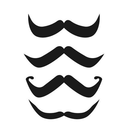 chaplin: Vector set of hipster mustache