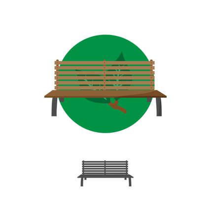Outdoor Bench Icon Vector Illusrtarion Eps10