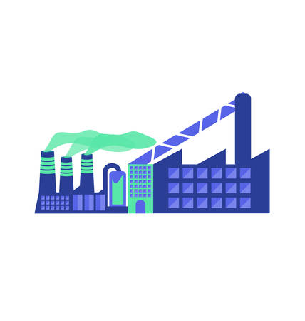 Illustration of an isolated factory Illustration