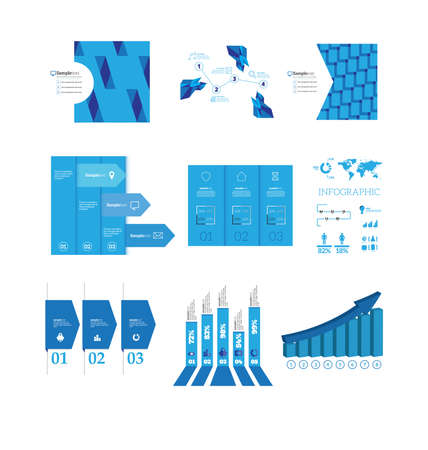 Infographics big set Vector illustration. can be used for workflow layout banner diagram number options, step-up options, web design