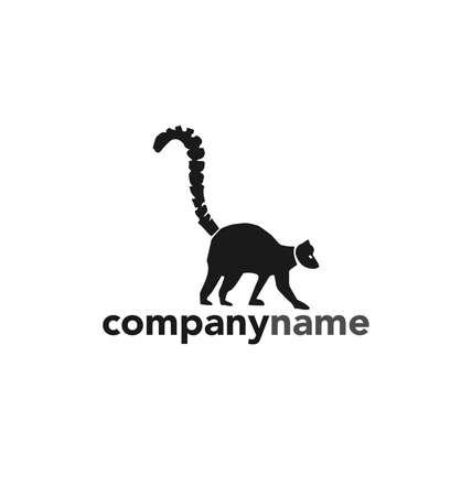 article icon: Lemur Animal Emblem Vector. Illustration