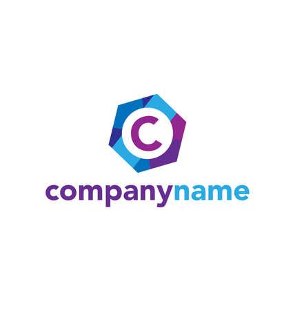 article marketing: Letter C logo icon vector design Illustration