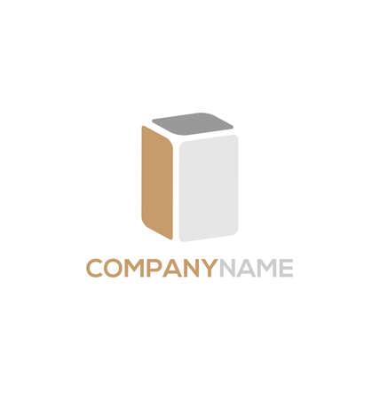 article marketing: 3d cube logo design icon, vector illustration