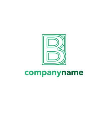 article marketing: Letter B logo icon vector design