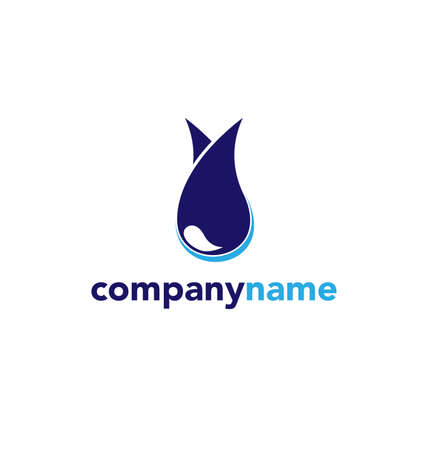 nomination: water abstract logo sign Branding Identity Corporate logo design template Isolated on a white background