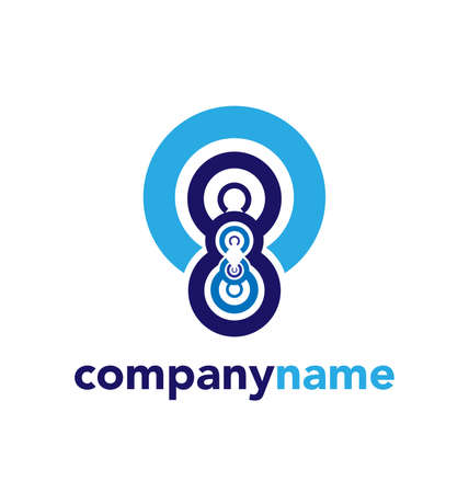 Modern abstract logo design, business icon