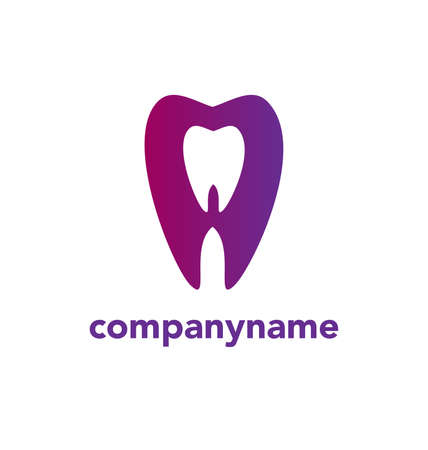 Vector logo design dentist teeth