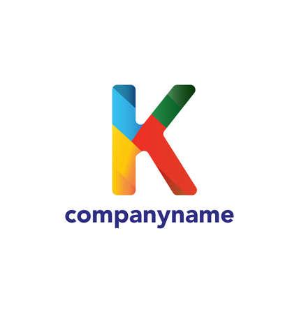 article marketing: Letter K design template