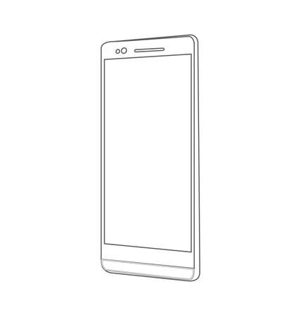 touchphone: Smartphone, mobile phone isolated, vector illustration