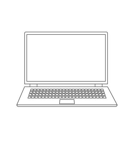 laptop isolated: Vector Laptop isolated on white background