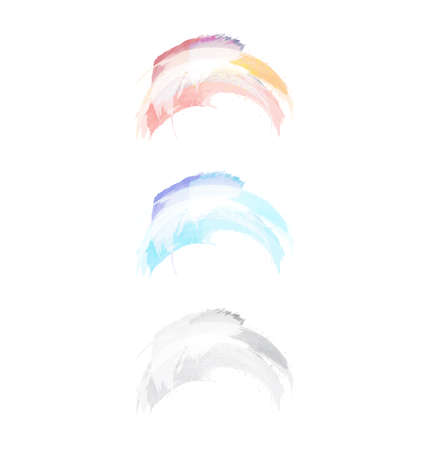 Vector watercolor paint splash set