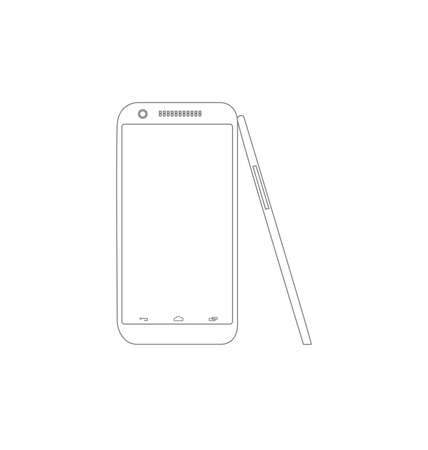 Smartphone, mobile phone isolated, vector illustration Stock fotó - 64585255