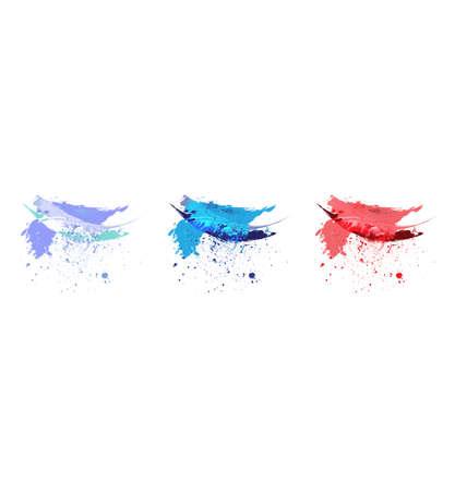 Vector aquarel verf splash set Stock Illustratie