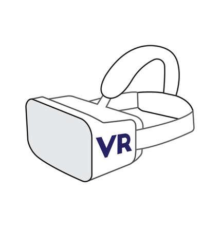 Virtual Reality VR-bril Stock Illustratie