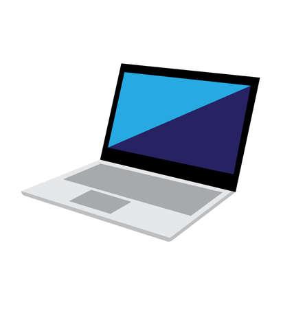 Vector Laptop op een witte achtergrond Stock Illustratie