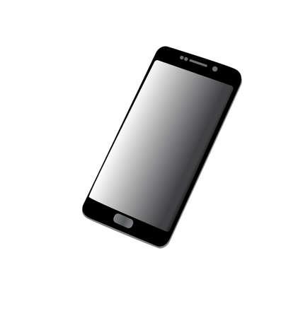Smartphone, mobiele telefoon geïsoleerd, vector illustratie