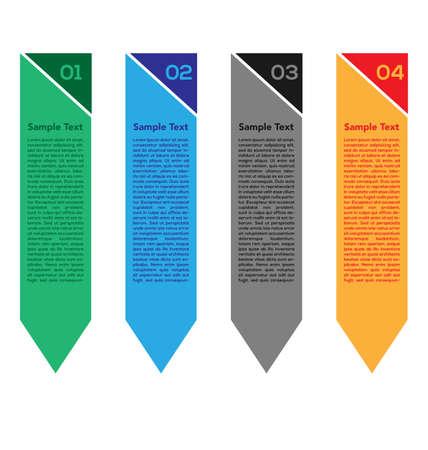 Infographics Vector illustratie. kan worden gebruikt voor workflow-layout opties voor bannerdiagramnummers, step-upopties, webontwerp