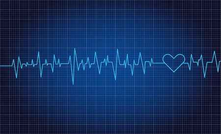 Heart beats lines rate