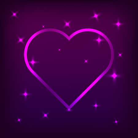 Heart with beautiful color effects