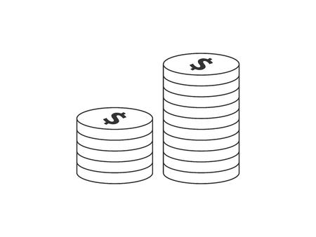 Money coins icon 向量圖像