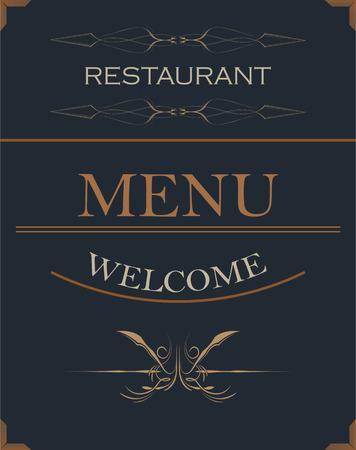 Hotel restaurant menu card