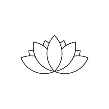 Lotus icon line art Illustration