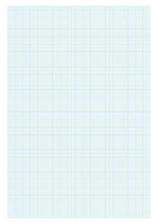 A4 size graph paper blue