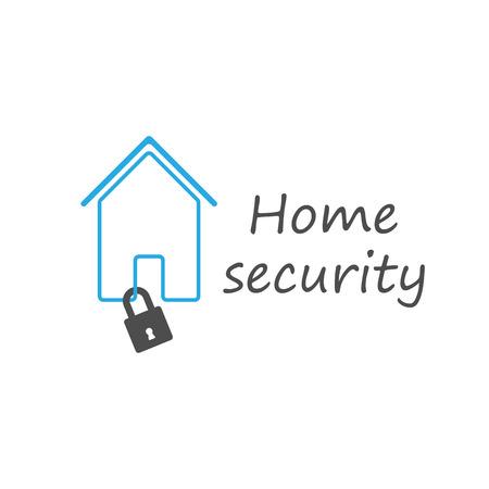 Home security padlock Illustration