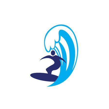Surfing ocean man, human 向量圖像