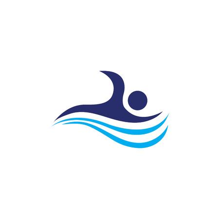 Swimming vector art design