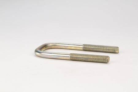 金属ボルト、白い背景の上のネジ 写真素材 - 64004606