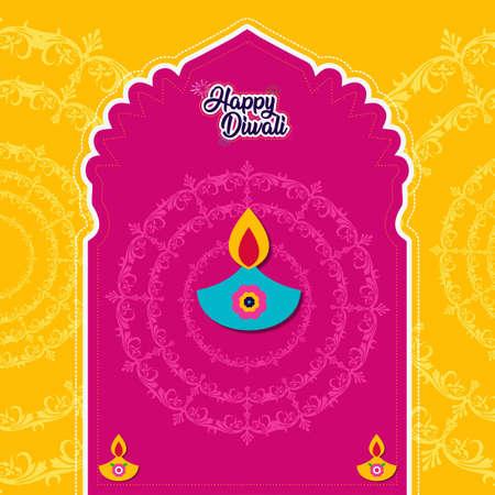 Diwali card, diwali offer design, diwali vector, deepawali illustration graphics Vektorové ilustrace