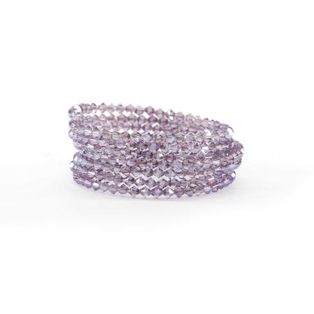cuff bracelet: Purple Crystal Bangle Stack Stock Photo
