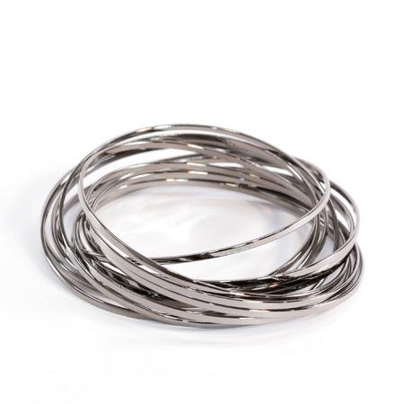 cuff bracelet: Silver Bangles Intertwined Stock Photo